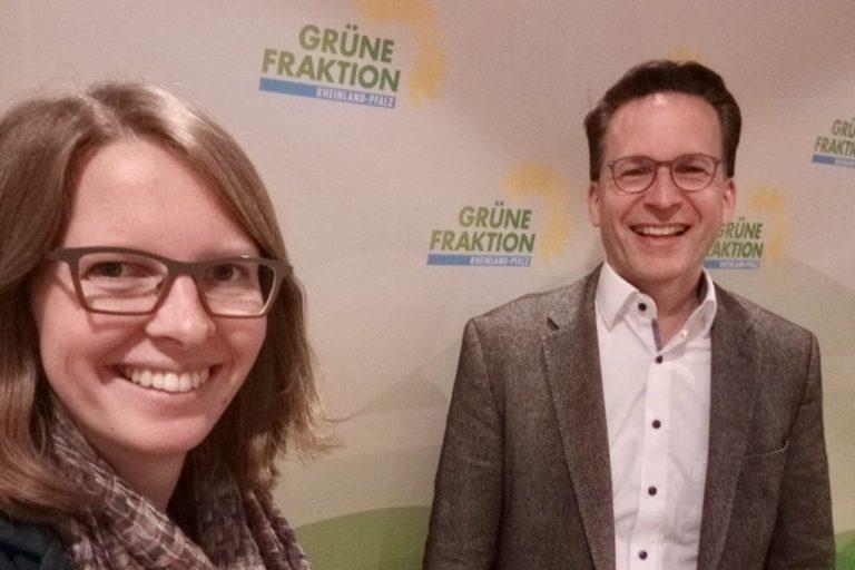 Dr. Lea Heidbreder und Michael Heilmann, Verbandsdirektor beim ZSPNV Rheinland-Pfalz Süd
